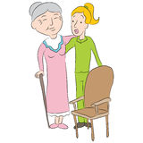 Nursing Home Assistant Stock Photography