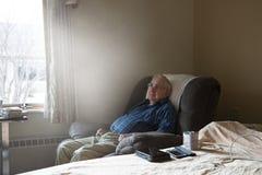 Free Nursing Home, Assisted Living, Elderly Senior Man Royalty Free Stock Photography - 155869887