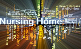 Nursing home background concept glowing Stock Image