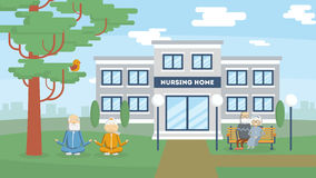 Nursing home building. Royalty Free Stock Photo