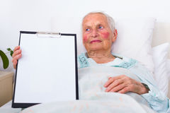 Nursing home copy space Royalty Free Stock Photos