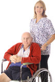 Nursing home patient Royalty Free Stock Images
