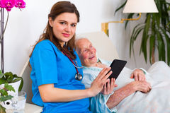 Nursing home technology Royalty Free Stock Photo