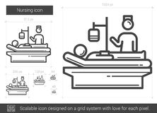 Nursing line icon. Royalty Free Stock Photography