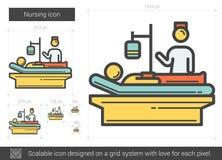 Nursing line icon. Royalty Free Stock Images