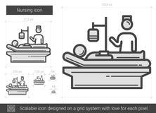 Nursing line icon. Stock Image