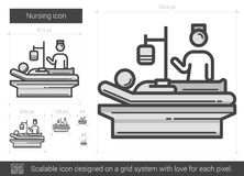 Nursing line icon. Royalty Free Stock Photos