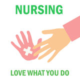 Nursing poster. Do what you love poster  be a nurse Royalty Free Stock Photo
