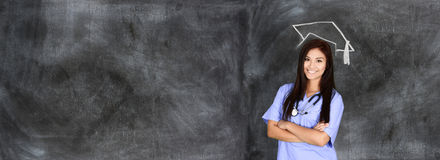 Nursing School Graduate. Woman who is graduating from nursing school stock photography
