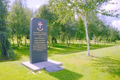 Nursing service memorial. This memorial at the National memorial arboretum is dedicated to the RAF nursing service personnel past and present Stock Image