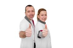 Nursing staff shows positive energy Stock Photography