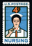 Nursing US Postage Stamp Royalty Free Stock Photography