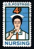 Nursing US Postage Stamp Royalty Free Stock Photography