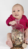 Nursling with money Stock Images