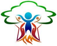 Nurturing nature. Isolated illustrated nurturing nature logo design Stock Image