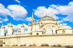 The Nuruosmaniye Mosque. Is the great example of the Ottoman Neo-Baroque style, located next to the Grand Bazaar, Istanbul, Turkey Stock Photo