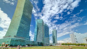 Nurzhol大道timelapse hyperlapse 现代新的办公楼在共和国的首都 阿斯塔纳卡扎克斯坦 影视素材
