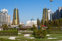 Nurzhol Boulevard in Astana. Kazakhstan Royalty Free Stock Photography