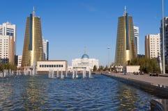 Nurzhol Boulevard in Astana. Kazakhstan Stock Image