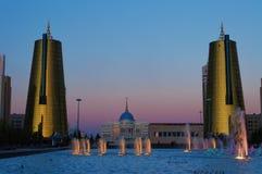 Nurzhol-Boulevard bei Sonnenuntergang astana kazakhstan Stockfotografie