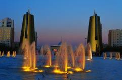 Nurzhol Boulevard at sunset. Astana. Kazakhstan Stock Image