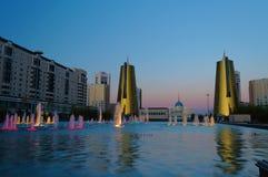 Nurzhol Boulevard at sunset. Astana. Kazakhstan Royalty Free Stock Image