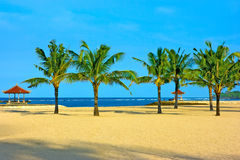 Nusa dua beach on Bali island. Nusa dua beach on Bali with nobody around Stock Photo
