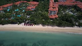 Nusa Dua beach front, Bali stock footage