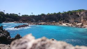 Nusa lembongan. Blue beach in bali Stock Images