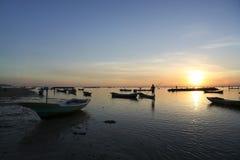Nusa lembongan sunset boats bali indonesia royalty free stock photo