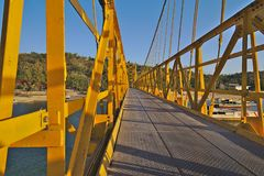 Nusa Lembongan Yellow Bridge traveling to indonesia royalty free stock photos