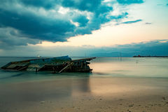 Nusa penida, Bali beach with dramatic sky Stock Image