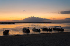 Nusa penida, Bali beach with dramatic sky and sunset Royalty Free Stock Photography