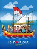 Nusantara, mi archipiélago Indonesia stock de ilustración