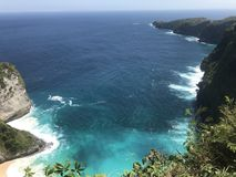 Nusapanida wyspa Fotografia Royalty Free