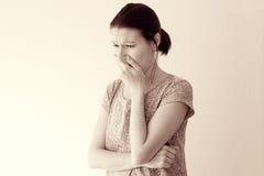 Náusea da doença de manhã Imagens de Stock Royalty Free