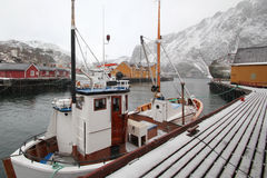 nusfjord冬天 免版税库存图片