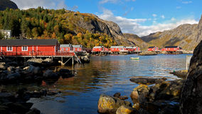 Nusfjord fishing village Stock Photos