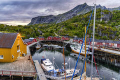 The Nusfjord harbor in Lofoten islands, Norway Royalty Free Stock Photography