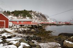Nusfjord, islas de Lofoten, Noruega Fotografía de archivo