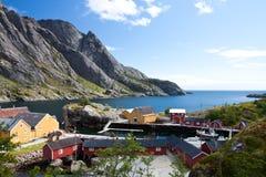 Nusfjord, Lofoten Royalty-vrije Stock Afbeeldingen