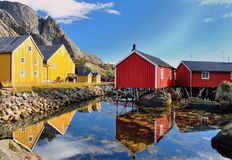 Nusfjord royalty free stock image