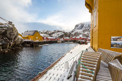 Nusfjord village, Lofoten islands, Norway Stock Photo