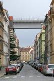 Nusle-Brücke in Prag - konkreter Viadukt in Prag, überschreiten über den Bezirk von Nusle in Prag 4 Lizenzfreie Stockfotos