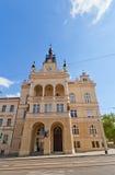 Nusle stadshus (1908) i det Nusle området av Prague Royaltyfri Fotografi