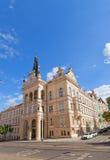 Nusle stadshus (1908) i det Nusle området av Prague Arkivfoto