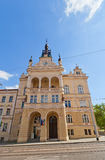 Nusle Town Hall (1908) in Nusle district of Prague. Nusle Town Hall Nuselska radnice, circa 1908 on Taborska Street in Nusle district of Prague. Nusle was Royalty Free Stock Photography