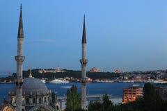 Nusretiye Moschee und Topkapi Palast Stockfotos