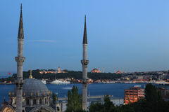 Nusretiye Mosque and Topkapi Palace Stock Photos