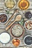 Nuss, Flocke, Lebensmittel, Produkt, Nahrung, Frucht, Frühstück, Korn, lizenzfreie stockfotografie